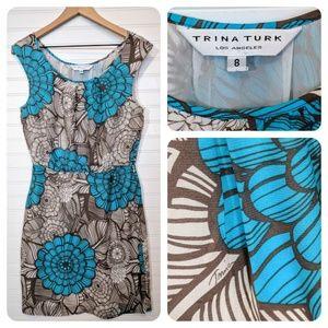 Trina Turk silk floral print dress